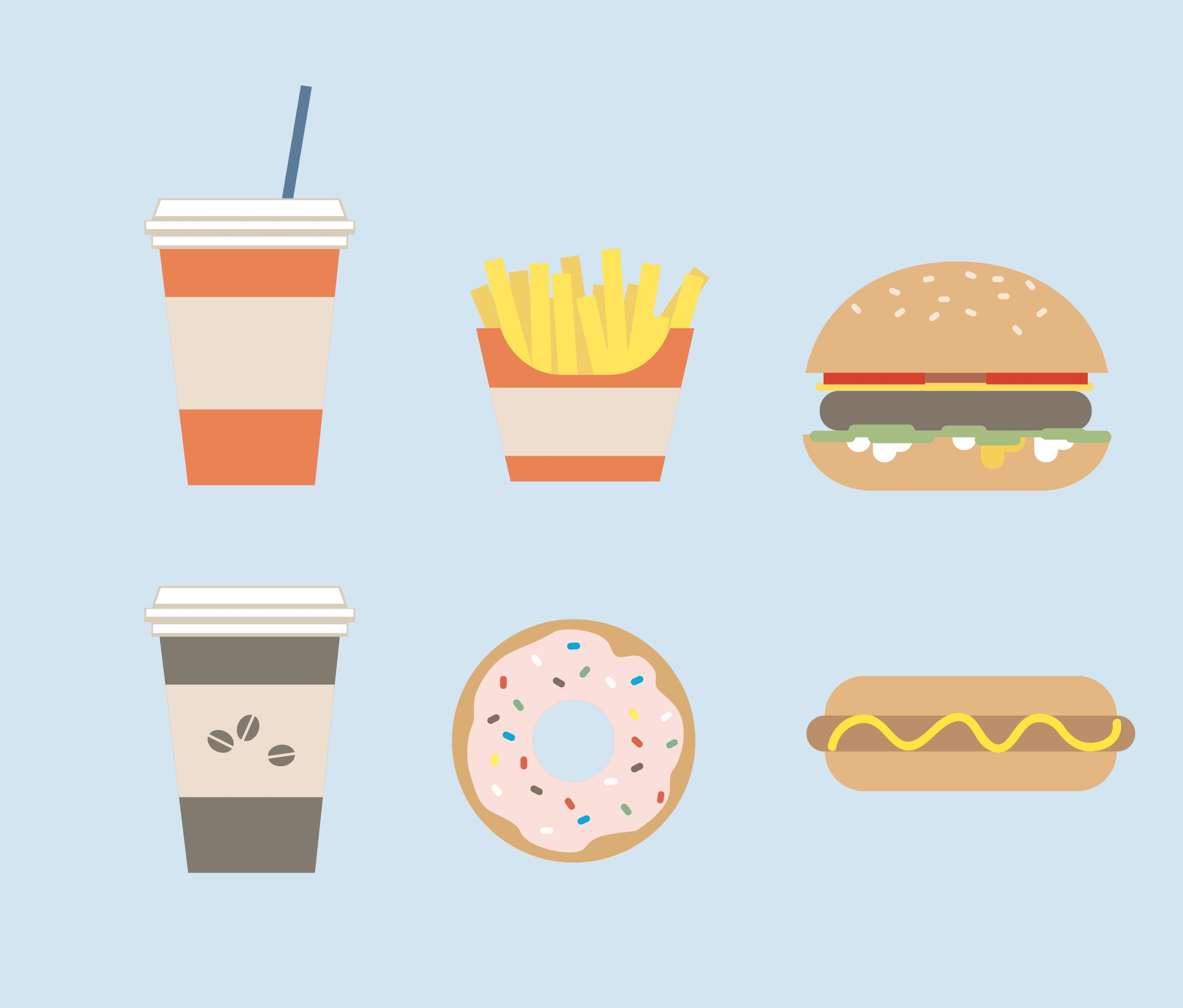 infographic of junk food